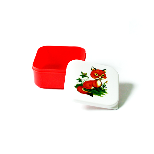 ass & Belle lunchset woodlandfriends Vos rood