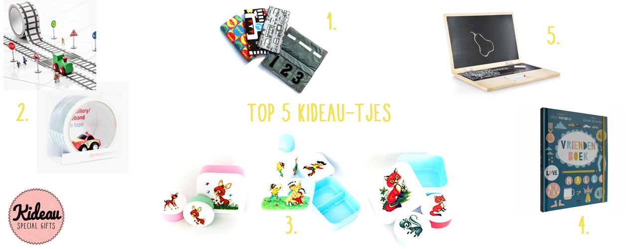 Blog top 5 cadeaus Kideau